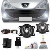 Kit-Farol-de-Milha-Peugeot-207-307-2006-a-2010-Auxiliar-Neblina---Kit-Super-LED-H11-6000k-Connect-Parts--1-