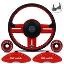 Kit-Red-Shutt-volante-Rallye-universal---Anilha-Quick-Realease-e-capa-de-pinca-connect-parts--1-