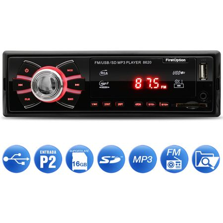 MP3-Player-Automotivo-First-Option-8620-1-Din-USB-SD-AUX-FM-RCA-Display-LED-connectparts--1-