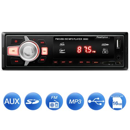MP3-Player-Automotivo-First-Option-8680-1-Din-USB-SD-AUX-FM-RCA-Display-LED-connectparts--1-