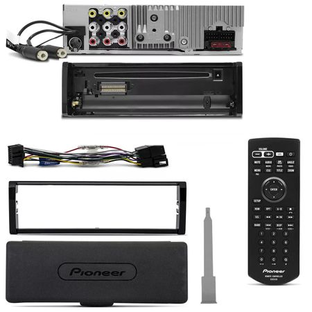 DVD-Pioneer-DVH-8880AVBT-1-Din-35-Polegadas-Bluetooth-USB-AUX---Kit-facil-200w-Connect-Parts--1-