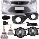 Kit-Farol-Milha-Ford-Focus-09-13-Auxiliar-Neblina-Aro-Cromado---Kit-Super-LED-3D-H11-6000k-connect-parts--1-
