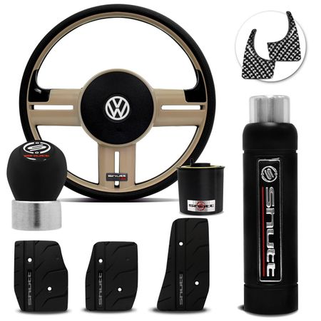 Volante-Shutt-Rallye-Bege-RS-Cubo-Gol-Saveira-Parati-Golf-Linha-VW---kit-Black-Connect-Parts--1-