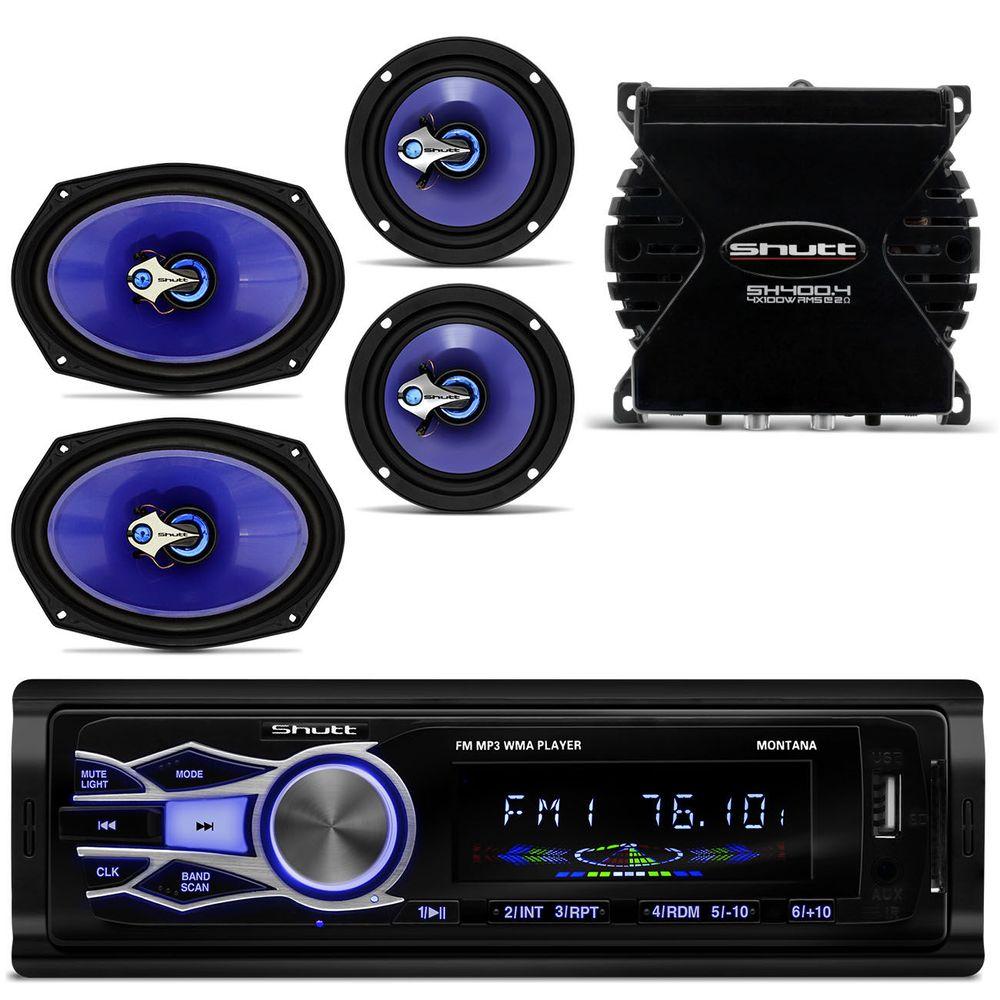 MP3 Montana + Falantes Shutt + Amplificador - Connect Parts b50f97281e6