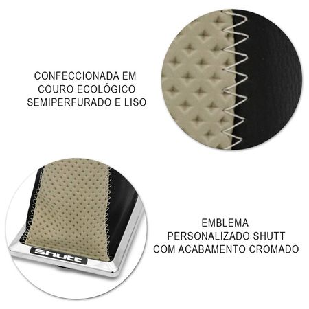 Coifa-Cambio-Gol-Parati-Saveiro-87-94-Cl-Napa-Lisa-Preta-E-Bege-Aplique-Cromado-Na-Base-Longa-connectparts--4-