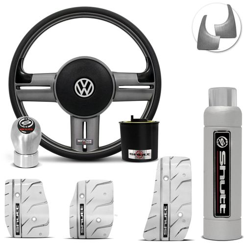 Volante-Shutt-Rallye-Grafite-Extreme-Cubo-Gol-Parati-Golf-Linha-VW---kit-Silver-Connect-Parts--1-