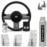 Volante-Shutt-Rallye-Grafite-Extreme-Cubo-Chevette-Chevy-Marajo-73-a-95---kit-Silver-Connect-Parts--1-