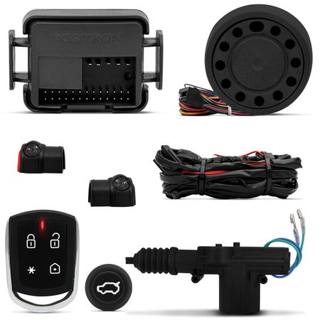 Kit-Alarme-Positron-PX360BT---Abertura-Porta-Malas-Fox-04-05-06-2-e-4-Portas-Abre-Botao-Alarme-connect-parts--1-