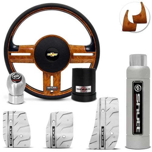 Volante-Shutt-Rallye-Madeira-GTR-Cubo-Chevette-Chevy-Marajo-73-a-95---kit-Silver-Connect-Parts--1-
