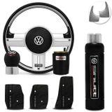 Volante-Shutt-Rallye-Prata-Xtreme-Cubo-Gol-Fox-Golf-Polo-Linha-VW--kit-Black-Connect-Parts--1-