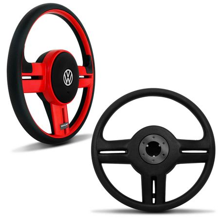 Volante-Shutt-Rallye-Vermelho-RS-Cubo-Gol-Fox-Golf-Polo-Linha-VW--kit-Black-Connect-Parts--1-