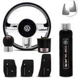 Volante-Shutt-Rallye-Cromado-Xtreme-Cubo-Gol-Parati-Golf-Linha-VW--kit-Black-connect-parts--1-