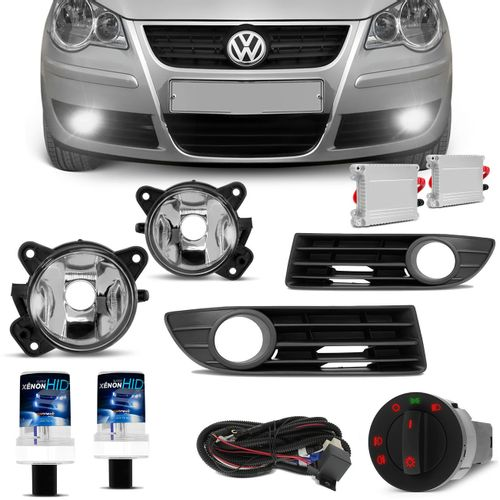 Kit-Farol-de-Milha-Polo-Hatch-Sedan-2007-2008-2009-Auxiliar-Neblina---Xenon-6000K-connect-parts--1-