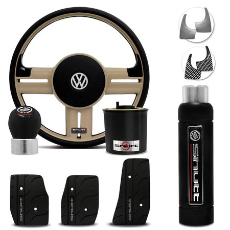 Volante-Shutt-Rallye-Surf-Bege-RS-Cubo-Gol-Parati-Golf-Linha-VW--kit-Black-connect-parts--1-