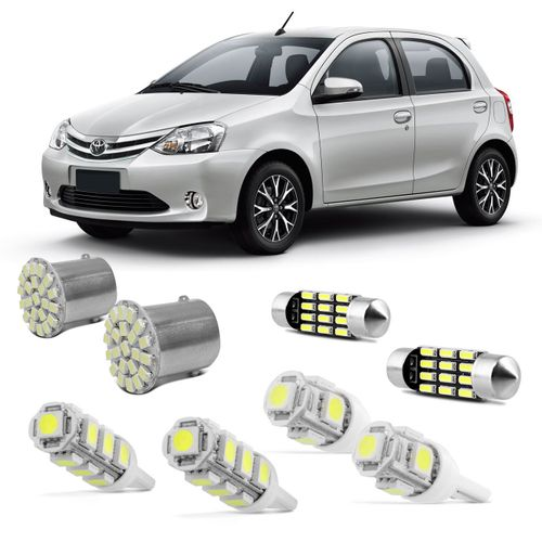 Kit-Lampadas-LED-Pingo-e-Torpedo-Toyota-Etios-Hatch-e-Sedan-Farolete-Placa-Teto-e-Re-connect-parts--1-