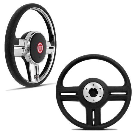 Volante-Shutt-Rallye-Cromado-Xtreme-Cubo-Fiat-147-1978-a-1987--kit-Black-connect-parts--1-