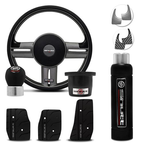 Volante-Shutt-Rallye-Surf-Grafite-Xtreme-Cubo-F1000-79-a-93--kit-Black-connect-parts--1-
