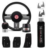 Volante-Shutt-Rallye-Surf-Grafite-Xtreme-Cubo-Fiat-147-78-a-87--kit-Black-connect-parts--1-