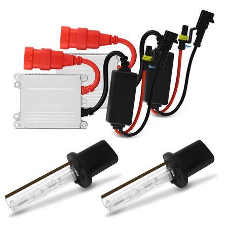 Kit-Farol-Milha-Uno-Way-Attractive-10-a-17-Fiorino-14-a-17---Par-Xenon-H1-4300K-com-Reator-connect-parts--1-