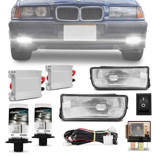 Kit-Farol-de-Milha-BMW-Serie-3-Hatch-Sedan-Coupe-M3-92-a-98---Par-Xenon-H1-4300K-com-Reator-connect-parts--1-