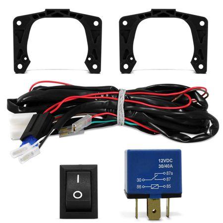 Kit-Farol-Milha-Palio-Weekend-Siena-Strada-G3-Auxiliar-Neblina---Par-Xenon-H1-4300K-com-Reator-Connect-Parts--4-