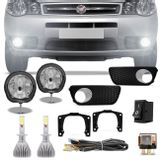 Kit-Farol-Milha-Palio-Weekend-Siena-Strada-Auxiliar-Neblina---Par-Lampadas-Super-LED-H1-6000K-6400LM-connect-parts--1-