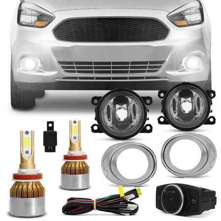 Kit-Farol-de-Milha-Ford-Ka-2015-2016-2017-Aro-Cromado-Auxiliar-Neblina---Ultra-LED-6000K-connect-parts--1-