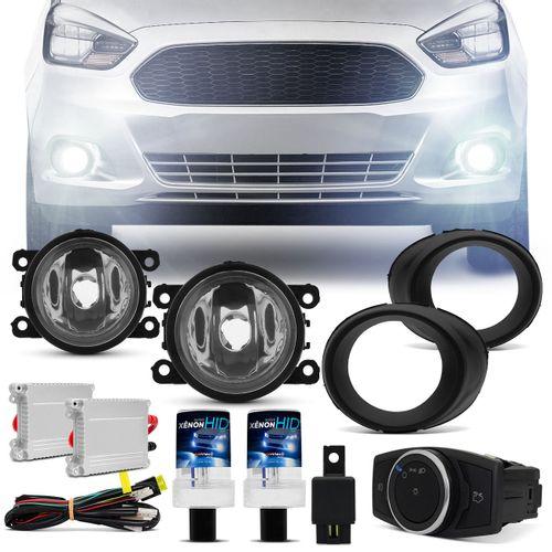 Kit-Farol-de-Milha-Ford-Ka-2015-2016-2017-Aro-Preto-Auxiliar-Neblina---Xenon-6000K-Connect-Parts--1-