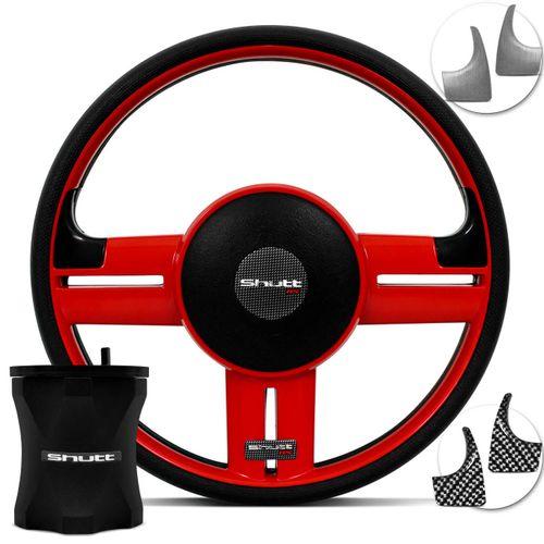 Kit-Volante-Shutt-Rallye-Super-Surf-RS-Gol-Preto-Vermelho-Apliques-Prata-com-Cubo-em-Aluminio-Connect-Parts--1-