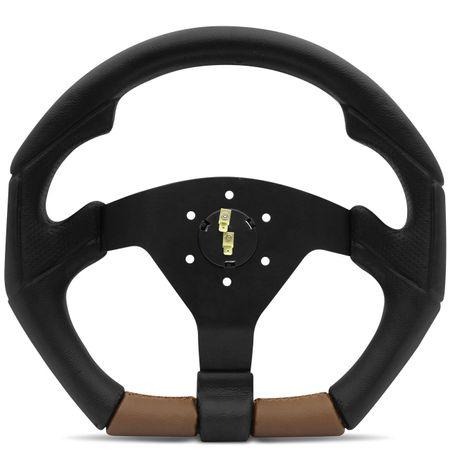 Kit-Volante-Tuning-Shutt-S3R-M-Gol-Preto-e-Marrom-com-Cubo-em-Aluminio-e-Acionador-de-Buzina-Connect-Parts--1-