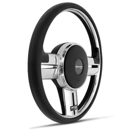 Kit-Volante-Shutt-Rallye-Slim-Cromado-Xtreme-Parati-e-Aplique-Preto-Prata-com-Cubo-em-Aluminio--1-
