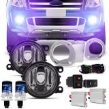Kit-Farol-Milha-Ranger-12-a-15-Aro-Cromado-Botao-Similar---Par-xenon-H11-12000K-com-Re-Connect-Parts--1-
