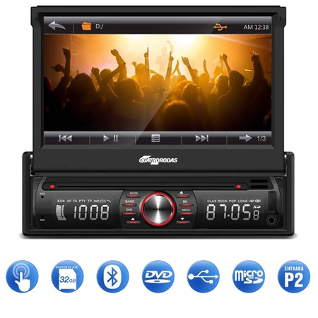 DVD-Player-Automotivo-Quatro-Rodas-MTC6617-1-Din-7-Pol-Retratil-Bluetooth-USB-MicroSD-AUX-FM-MP3-WMA-Connect-Parts--1-