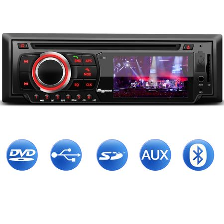DVD-Player-Automotivo-Quatro-Rodas-MTC6616-1-Din-Tela-LED-3-Pol-Bluetooth-USB-SD-AUX-MP3-FM-Controle-Connect-Parts--1-