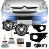 Kit-Farol-Milha-C4-Hatch-Pallas-08-a-15-Botao-Universal---Par-Super-LED-Headlight-H11-6000K-6400LM-connect-parts--1-
