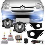 Kit-Farol-Milha-C4-Hatch-Pallas-08-a-15---Par-Super-LED-3D-Headlight-H11-6000K-9000LM-connect-parts--1-