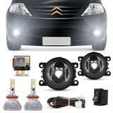 Kit-Farol-de-Milha-Citroen-C3-09-a-12-Auxilar-Neblina---Par-Super-LED-3D-Headlight-H11-6000K-9000LM-Connect-Parts--1-