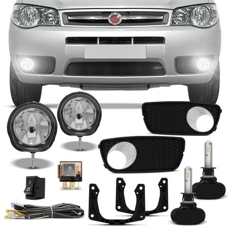 Kit-Farol-Milha-Palio-Weekend-Siena-Strada-Auxiliar-Neblina---Par-Lampadas-Ultraled-H1-6000K-connect-parts--1-