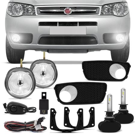 Kit-Farol-Milha-Palio-G3-Weekend-Siena-Strada-Aros-Cromados---Par-Lampadas-Ultraled-H1-6000K-connect-parts--1-