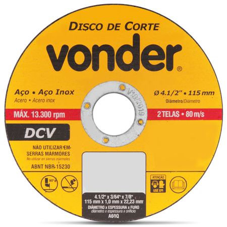 Kit-com-5-Discos-de-Corte-Vonder-Aco-e-Aco-Inox-4.12-Polegas-115-mm-13.300-RPM-2-Telas-80-ms-connect-parts--2-