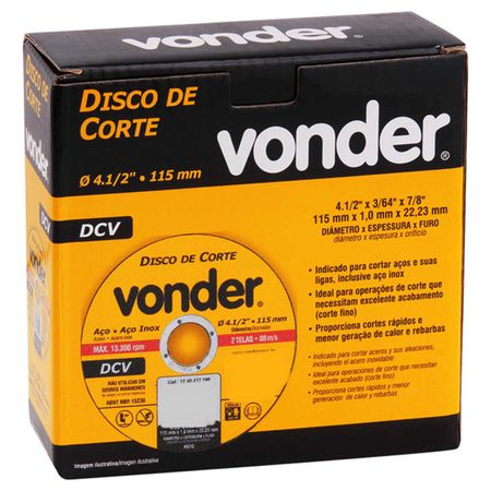 Kit-com-5-Discos-de-Corte-Vonder-Aco-e-Aco-Inox-4.12-Polegas-115-mm-13.300-RPM-2-Telas-80-ms-connect-parts--3-