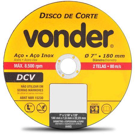 Kit-com-5-Discos-de-Corte-Vonder-Aco-e-Aco-Inox-7-Polegas-180mm-8500-RPM-2-Telas-80-m-s--2-