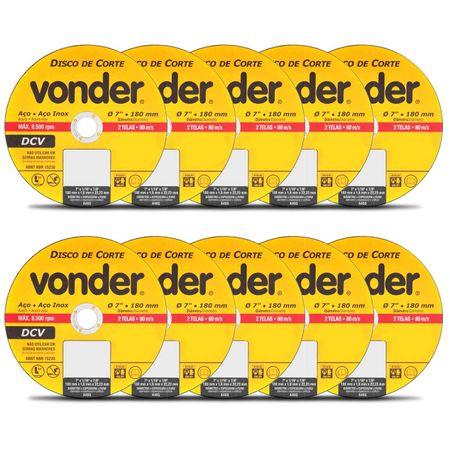 Kit-com-10-Discos-de-Corte-Vonder-Aco-e-Aco-Inox-7-Polegas-180mm-8500-RPM-2-Telas-80-m-Connect-Parts--1-
