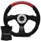 Kit-Volante-Esportivo-Tuning-Shutt-SRRB-Preto-Vermelho-com-Acionador-de-Buzina-Cubo-Santana-Aluminio-connect-parts--1-