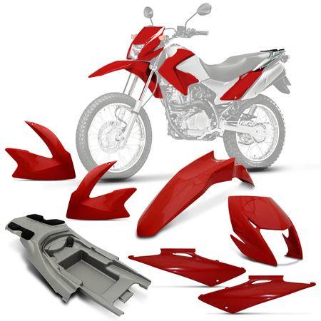 Conjunto-Completo-Moto-Bros-150-2011-Inj-Sem-Adesivo-Vermelho-Clivia-connectparts--1-