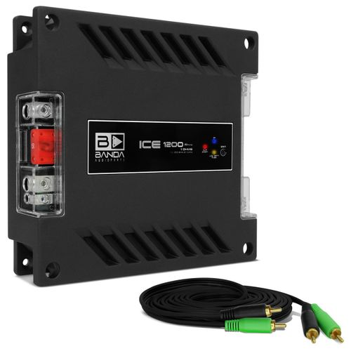 Modulo-Amplificador-Banda-Ice-1201-1200W-RMS-1-Canal-1-Ohm---Cabo-RCA-4mm-5-Metros-Connect-Parts--1-
