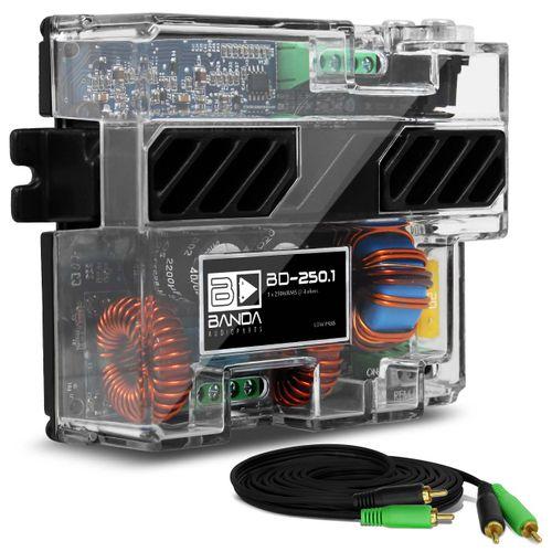 Modulo-Amplificador-Banda-BD250.1-250W-RMS-1-Canal-4-Ohms---Cabo-RCA-4mm-5-Metros-connect-parts--1-