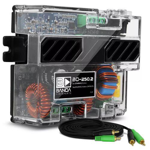 Modulo-Amplificador-Banda-BD250.2-250W-RMS-2-Canais-2-Ohms---Cabo-RCA-4mm-5-Metros-connect-parts--1-