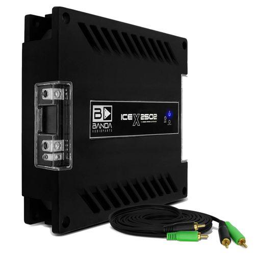 Modulo-Amplificador-Banda-Ice-X-2502-2500W-RMS-1-Canal-2-Ohms---Cabo-RCA-4mm-5-Metros-connect-parts--1-