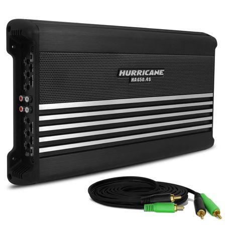 Modulo-Amplificador-Hurricane-HA-650.4S-2600W-RMS-4-Canais-2-Ohms---Cabo-RCA-4mm-5-Metros--1-